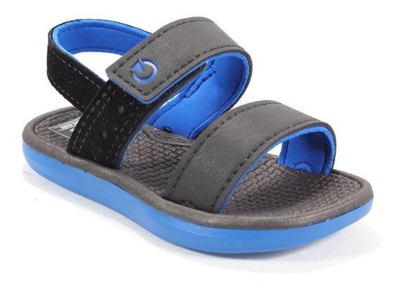 Sandália Juvenil Preto/azul Santorini Cartago 11238