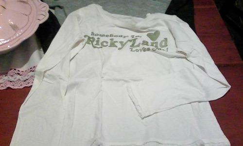 Remera Manga Larga Original Ricky Sarkany Talle M Mas Regalo
