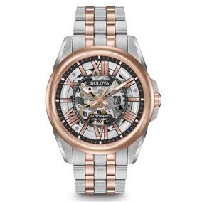 Relógio Bulova Masc Esqueleto Automático Wb31998s / 98a166