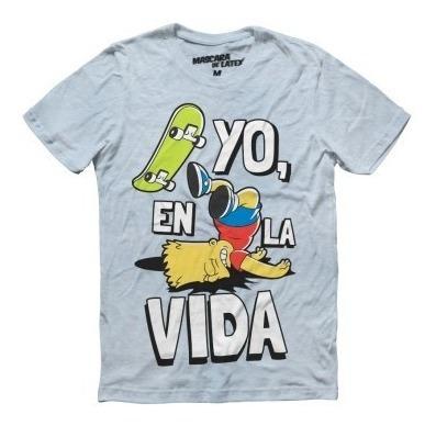 Playera Hombre Yo, En La Vida Bart Los Simpsons Máscara De L
