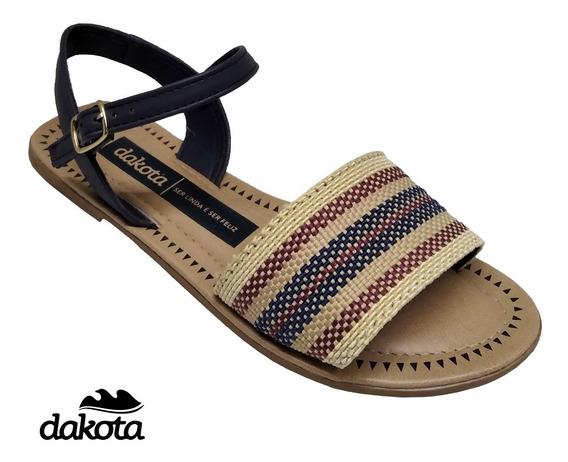Sandália Dakota Rasteira Avarca Feminina Casual Z5311
