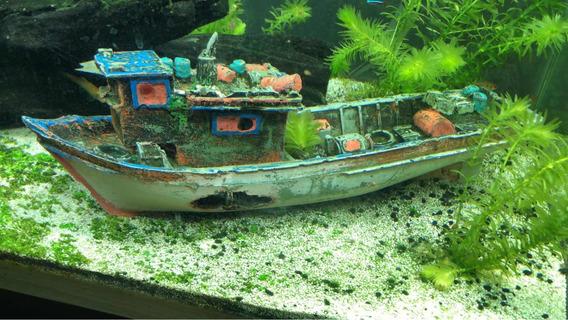 Barco Para Enfeitar Aquario