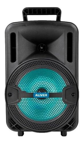 Parlante Aliver 8001 portátil con bluetooth negro