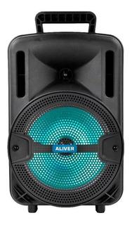 Parlante Aliver 8001 portátil inalámbrico Negro