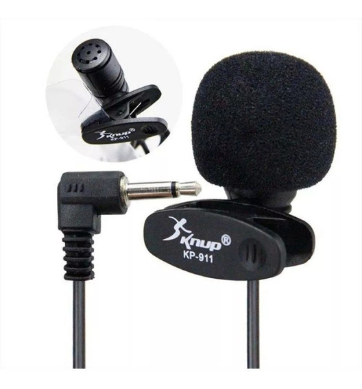 Mini Microfone De Lapela Knup - Kp-911