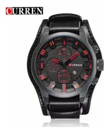 Relógio Curren 8225 D Couro Masculino .