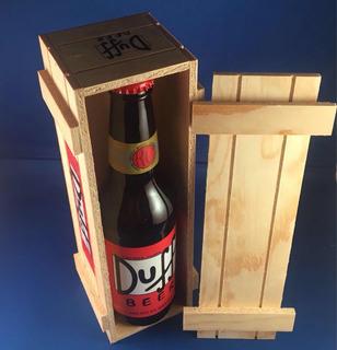 Cerveza Duff + Estuche De Madera De Colección!!