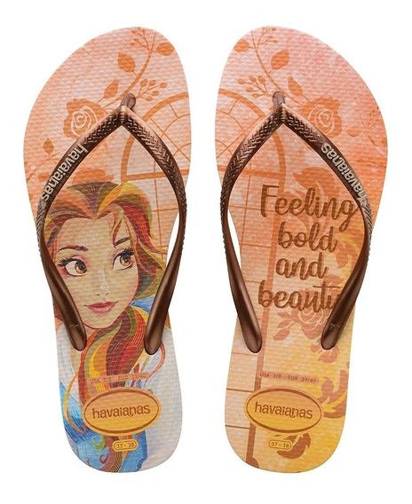 Chinelo Sandália Havaianas Feminino Slim Princesas