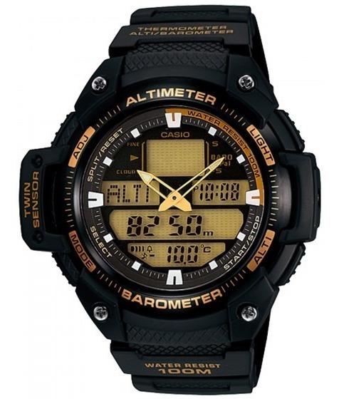 Relógio Casio Sgw-400h-1b2vdr Barômetro Altímetro - Refinado