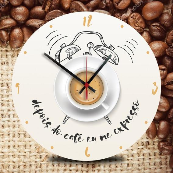 Relógio De Vinil Para Paredes Café Expresso Cozinha