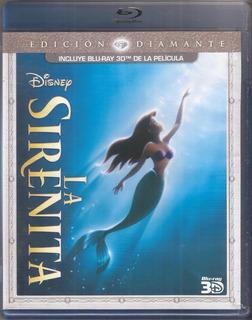 La Sirenita Bluray 3d The Little Mermaid Walt Disney