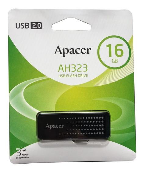 Pen Drive Apacer 2.0 16gb Ah323 Preto (ap16gah323b-1)