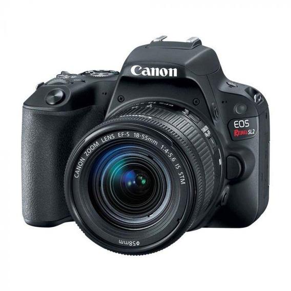 Câmera Digital Canon Eos Rebel Sl-2 C/lente 18-55mm 4-5.6 Is