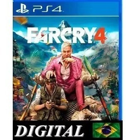 Far Cry 4 Dublado Ps4 Midia Digital 1ª Farcry 4 Primario