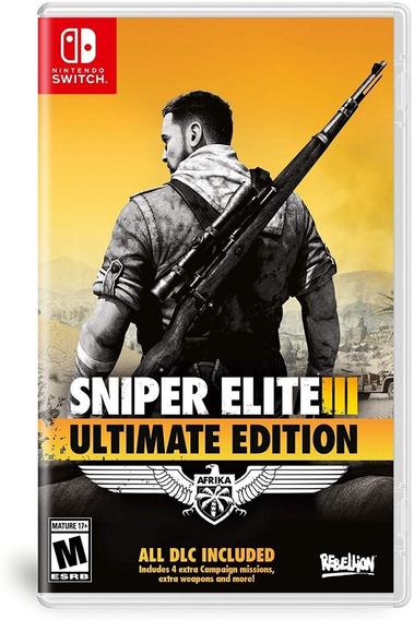 Sniper Elite 3 Ultimate Edition Mídia Física (switch) Novo