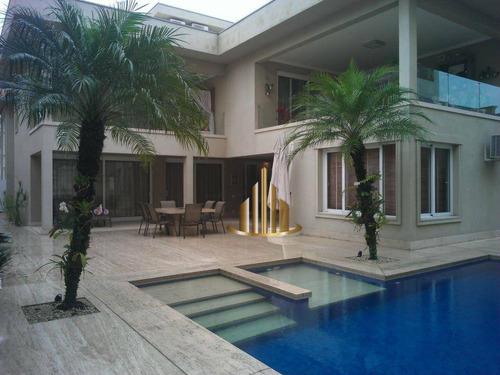Casa Com 4 Suítes À Venda, 730 M² Por R$ 9.500.000 - Tamboré 02 - Santana De Parnaíba/sp - Ca0247