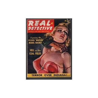 Real Detective3 / 1940-pulpa Violenta Crimen-estrangulación-