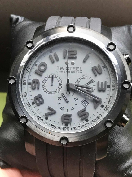 Tw Steel Tw129 48mm Acero Negro Pvd (normal $10,800)