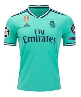 Camisa Real Madrid Verde 2019-2020 Original + Patch Ucl