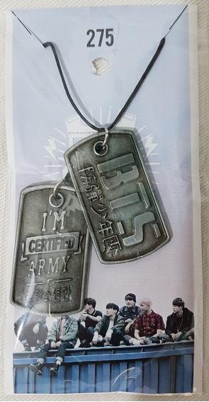 Colar Kpop Bts Jung Army Dog Tag Fã Clube Bangtan Boys #275