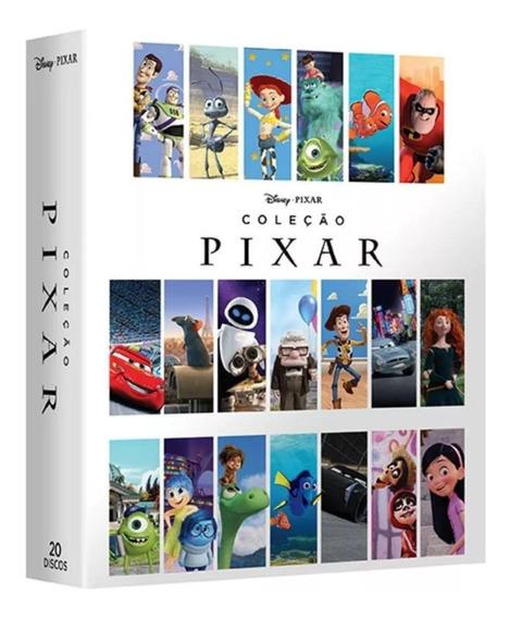 Box : Coleção Disney Pixar 2018 - Original Dvd Novo 20 Dvd