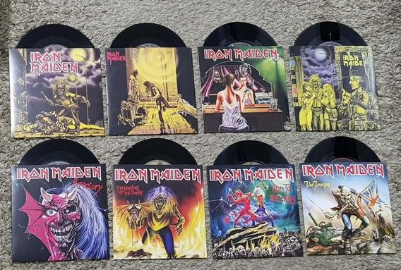 Iron Maiden Lote 8 Vinil Lp Single 7 Polegadas Importado