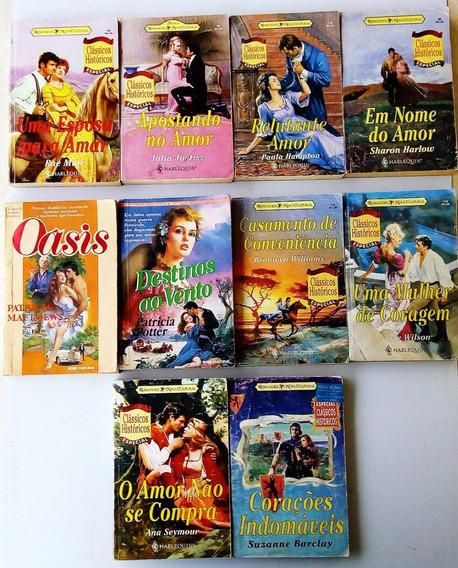 Livros Clássicos Históricos Antigos 10 Romance Frete R$ 18