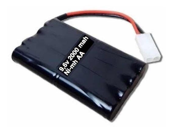 Bateria 9,6v 2000 Mah Para Carrinho Conector Tamya