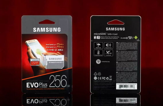 Cartão Samsung Evo Plus 256gb C10 U3 95mb/s Nintendo Switch