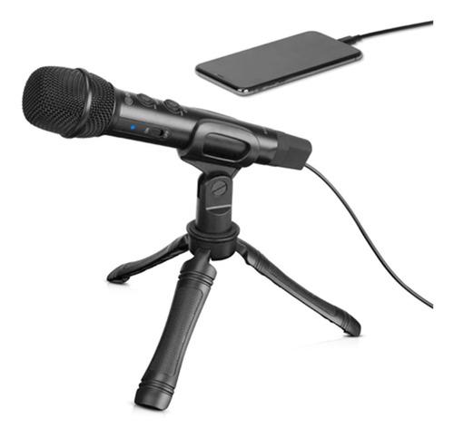 Imagen 1 de 6 de Microfono Mano Boya Hm2 P/ Celular Usbc iPhone + Tripode
