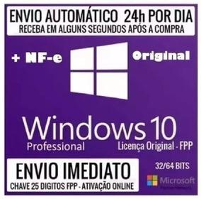 Windows 10 Pro Original Chave Licença Download C/nf-e