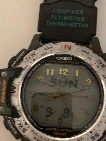 Relógio Casio Pathfinder Twincept Mega Raridade! Usado!