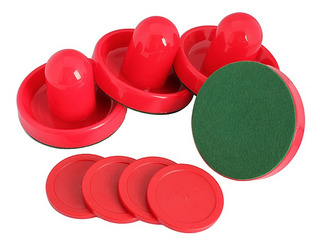 4pcs Air Hockey Mesa Porteros Con 4pcs Puck Sentía Mazo