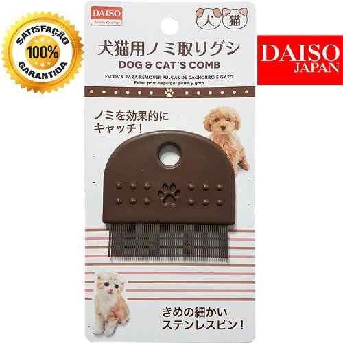 Pente Escova Remover Pulgas Pet Cães Gatos Daiso Japão