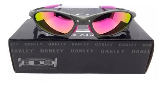 Óculos Oakley Juliet Penny Cinza Rosa Metal Pronta Entrega!!