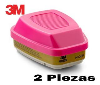 Cartucho 60926 Para Multigases, Vapores Y Aceite Pk 2 Pza 3m