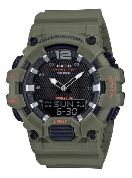 Reloj Casio Análogo Digital Caballero Verde Hdc-700-3a2vcf