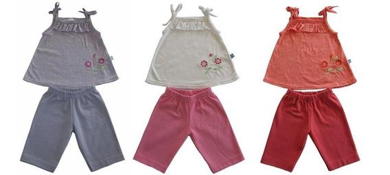 Conjunto Bebê Blusa E Short Menina Lote 10 Unidades