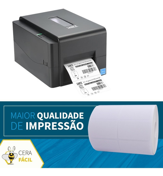 Bobina Etiqueta Adesiva 40x25x2 Impressora Térmica Zebrada