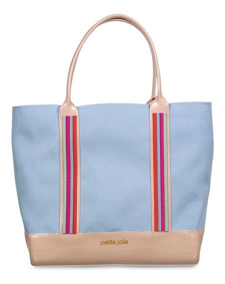 Bolsa La Playa Petite Jolie Azul Claro Pj4313