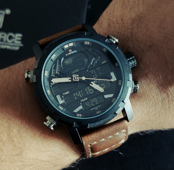Relógio Masculino Naviforce 9160 Militar Original Na Caixa