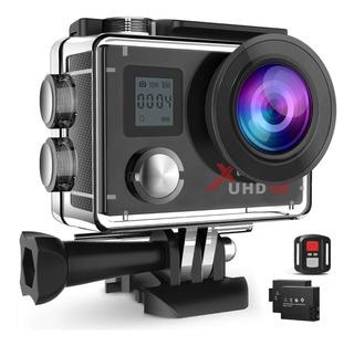 Campark Action Camera 4k Wifi Ultra Hd Sports Cam Underwa...