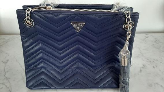 Bolsa Guess Feminina 100% Original Importada Azul Blue Navy