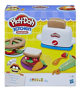 Play Doh Tostadora Divertida Kitchen Creations 6 Bote Hasbro