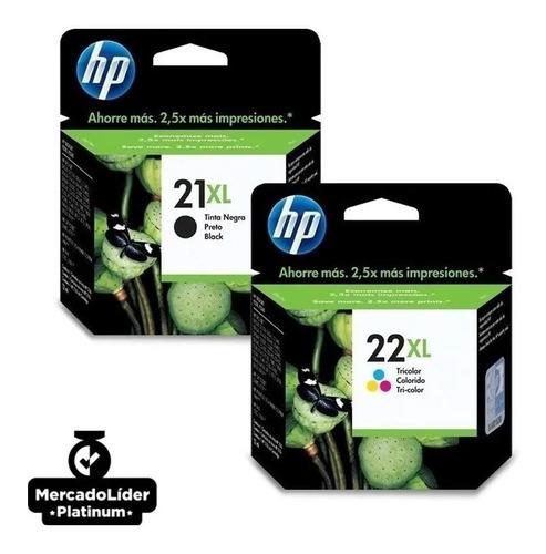 Imagem 1 de 4 de Kit Cartucho Hp 21 Xl Preto E 22 Xl Color Promoção