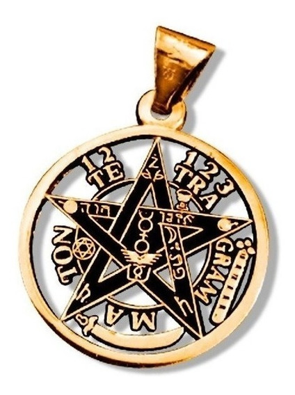 Tetragramaton O Pentagrama, En Fina Chapa De Oro 18 Kilates.