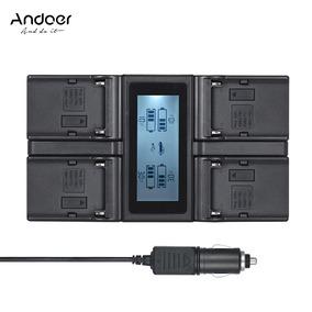 Andoer Np -f970 Lcd Carregador Bateria Câmera Digital 4 Cana