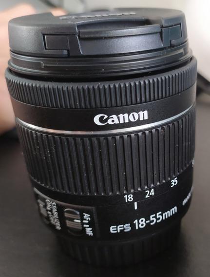 Lente Canon Ef-s 18-55mm F/3.5-5.6 +brinde (alça De Pescoço)