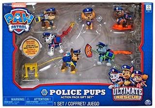 Paquete De Regalo De Paquete De Accion De Cachorros De Polic