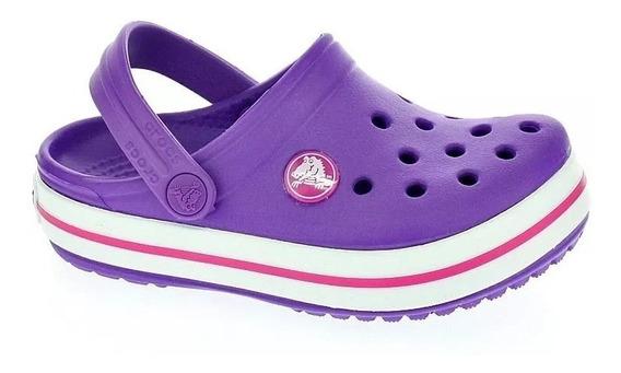 Crocs Crocband Violeta - Niñas